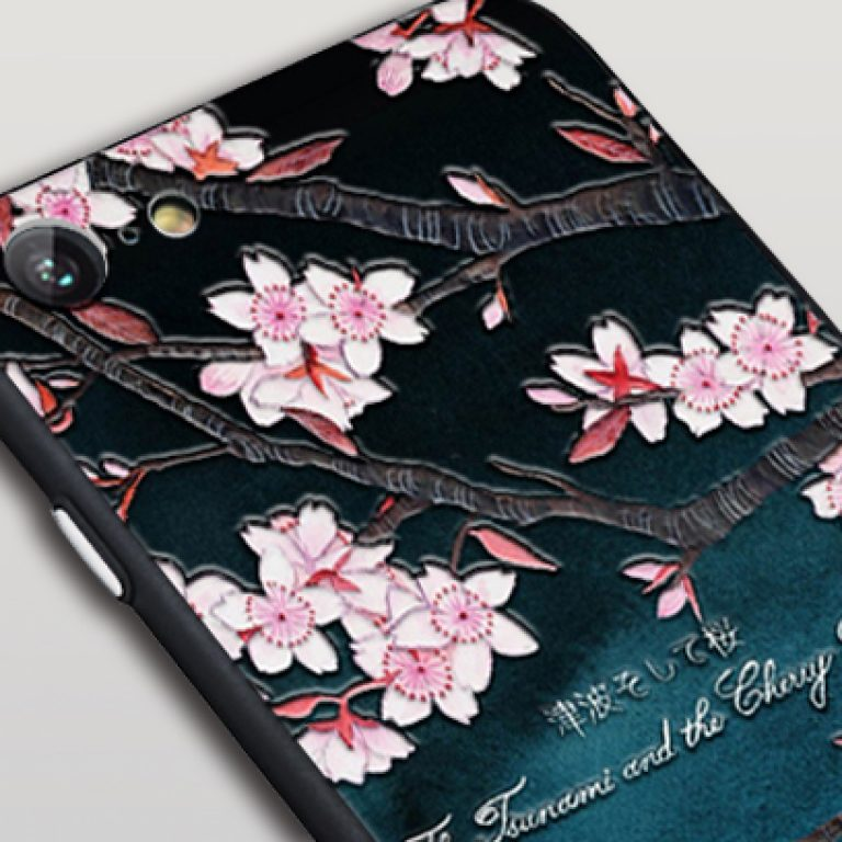 uv printed cell phone case with embossed effect
