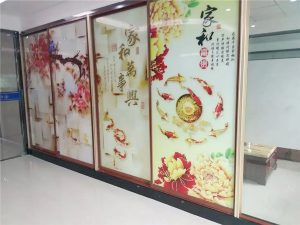 glass partition printing