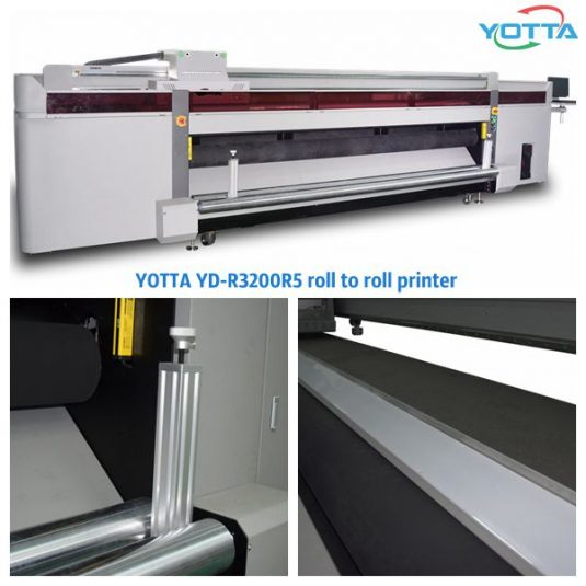 YOTTA's YD-R3200R5 UV roll to roll printing machine