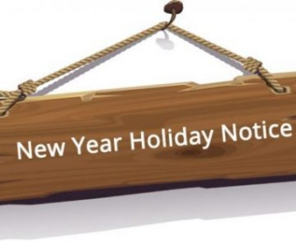 2018 New Year Holiday Notice - YOTTA Printer