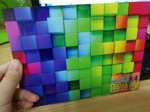 UV 3D effect printing on PVC sheet
