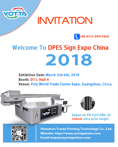 YOTTA will attend DPES Sign Expo China 2018 in Guangzhou