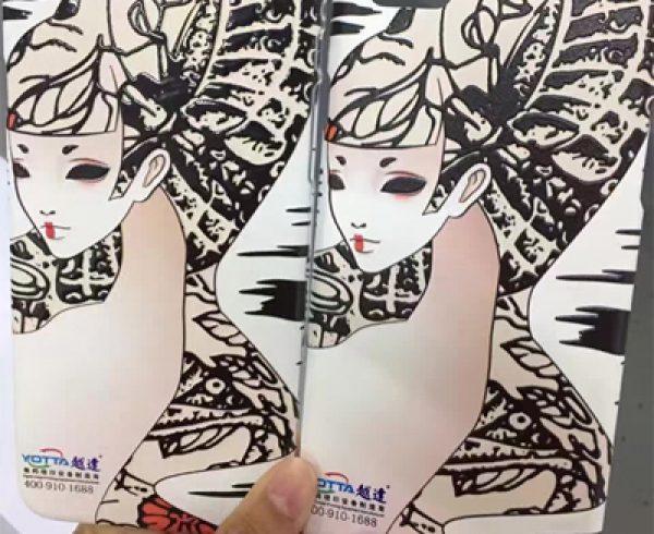 white ink printing of YOTTA UV printer