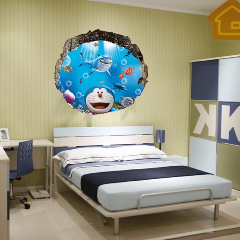 3d wallpaper sticker printed