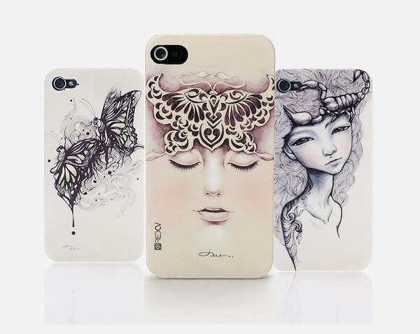 mobile phone case printed with embossed effect