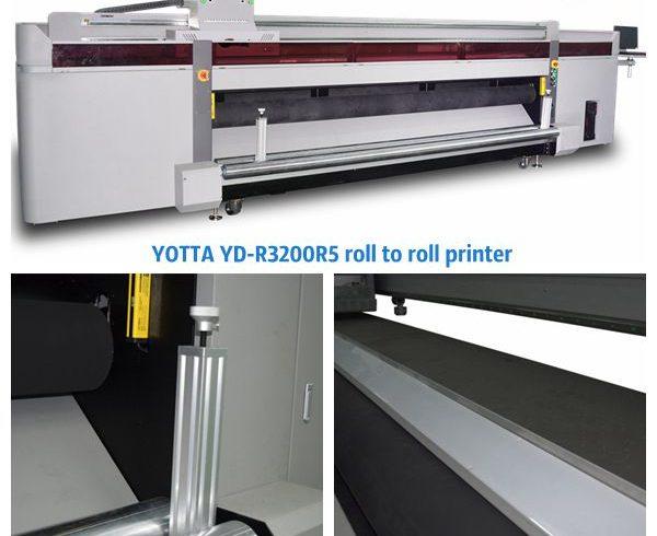 YOTTA's YD-R3200R5 UV roll to roll printing machine