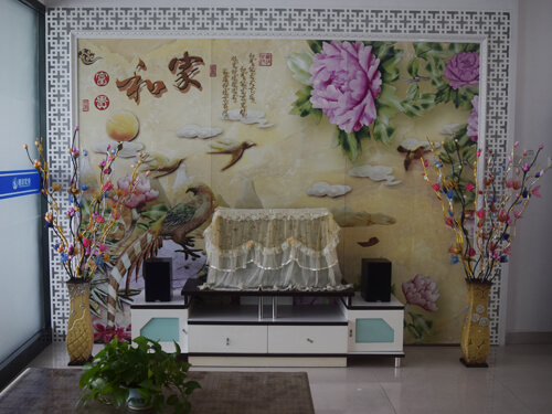 PVC TV background wall printing