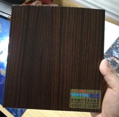 Wood grain wall panel printing